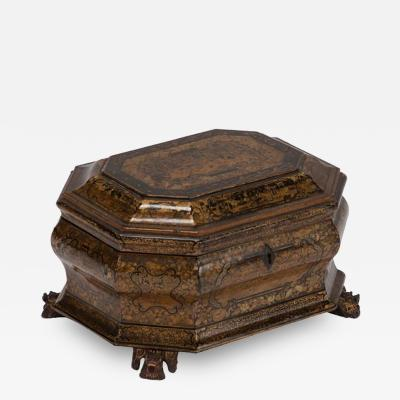 An Export Lacquer Box on Carved Feet