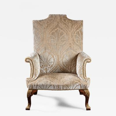 An Important Early English Kentian Walnut Wing Chair Circa 1735