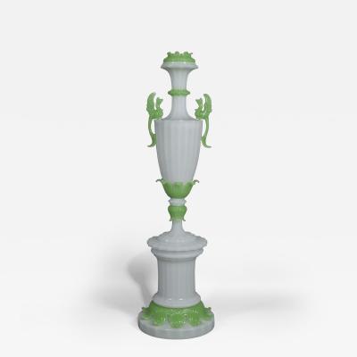 An Important Louis Philippe Verre Opaline Vase