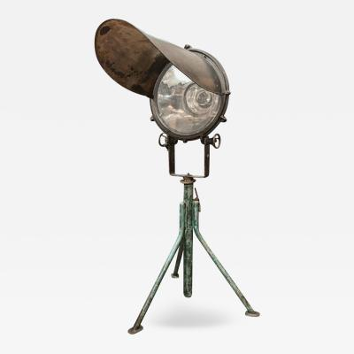 An Industrial Standing Lamp
