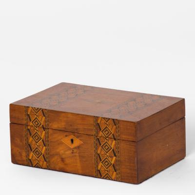 An Inlaid Box in Walnut