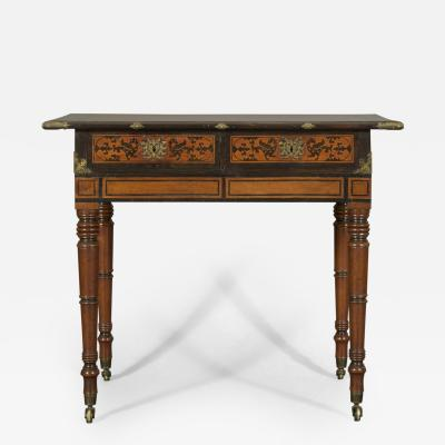An Interesting Regency Mahogany Center Table In The Manner of George Bullock
