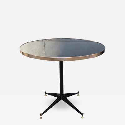 An Iron and Brass Round Table Italy 1960