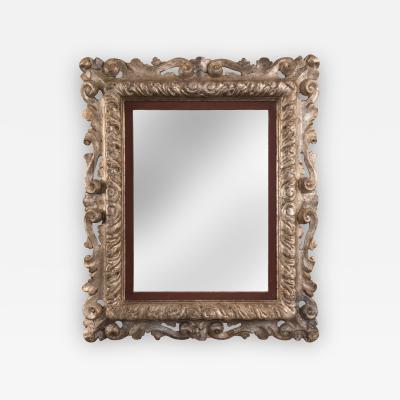 An Italian Baroque Silvered Mirror