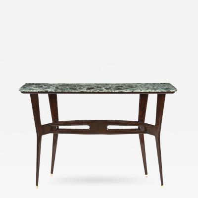 An Italian Ebonzied Wood and Marble Console Table