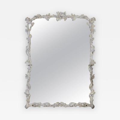 An Italian Grey Pained Faux Bois Mirror