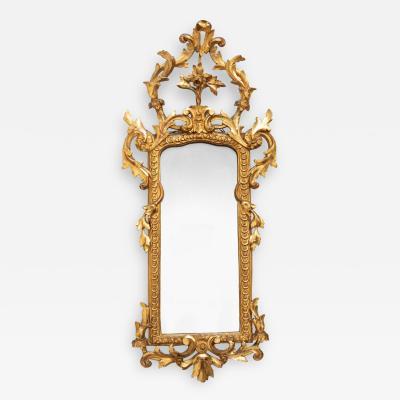 An Italian carved gilt wood pier mirror