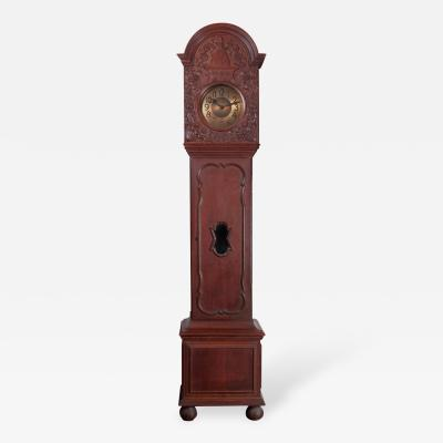 An Oak Tall Case Clock