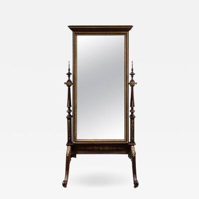 An Ormolu Mounted Cheval Mirror