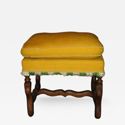 An Os de Mouton Walnut Upholstered Stool