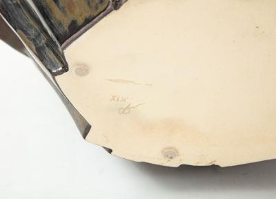 An Signed R A Pesce Wheel Thrown and Manipulated Cubist Vessel