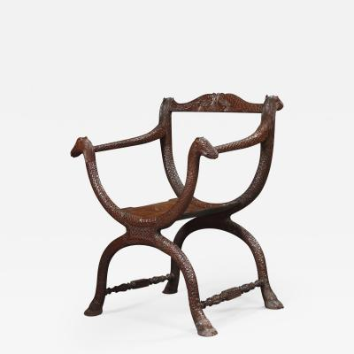 An Unusual Carved Rosewood Chair