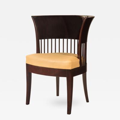 An Unusual Danish Jugendstil Mahogany Chair