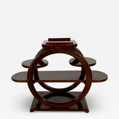 An Unusual French Late Art Deco Mahogany Occasional Table