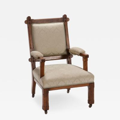 An Upholstered Chair in Oak