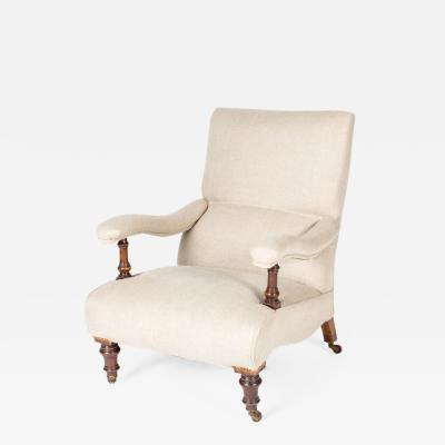 An Upholstered Library Chair