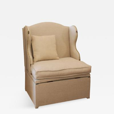 An Upholstered Unfolding Chair To Bed