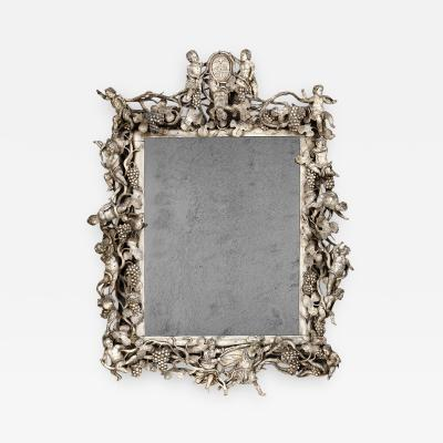 An early 18th century Italian carved mirror
