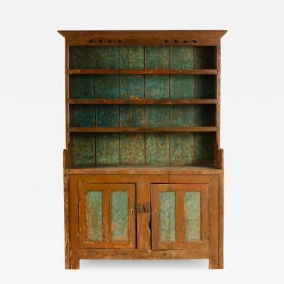 An early 19th Century painted hutch