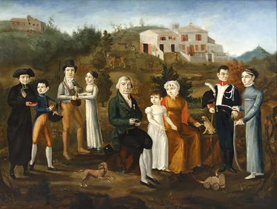 An early 19th century French family portrait