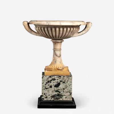 An italian Sculpture Giallo Antico Specimen Marble Fluor spar Tazza