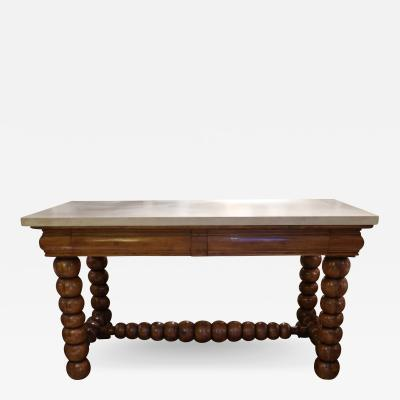 An oak and marble console Sweden XIXth century