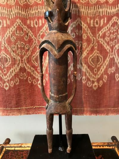 An old Ancestor Hook Figure from Mid Sepik River Papua New Guinea