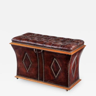 An unusual shaped William IV rosewood framed box ottoman