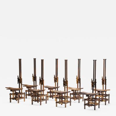 Anacleto Spazzapan Anacleto Spazzapan Set of Post Modern Sculptural Chairs 2000s