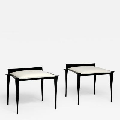 Anasthasia Millot Stools in Bronze by Anasthasia Millot