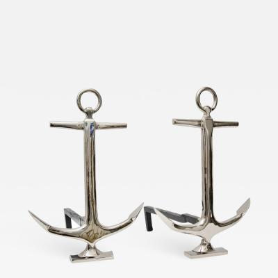 Anchor Form Fireplace Andirons