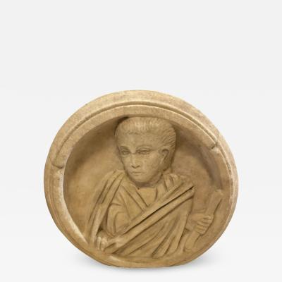 Ancient Roman Carved Marble Roundel