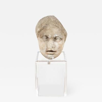 Ancient Roman Marble Bust of a Boy