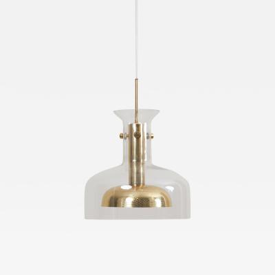Anders Pehrson One of Six Crystal Pendant Lamp by Anders Pehrson for Atelje Lyktan