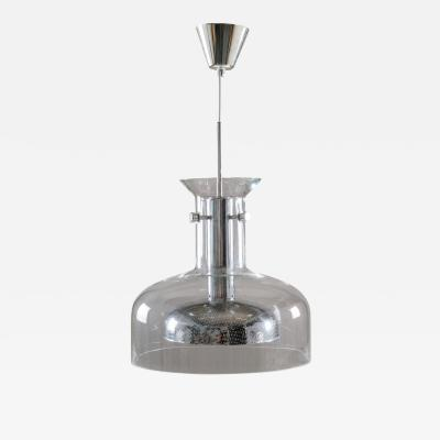 Anders Pehrson Scandinavian Pendant in Glass and Chrome by Anders Pehrson for Atelj Lyktan