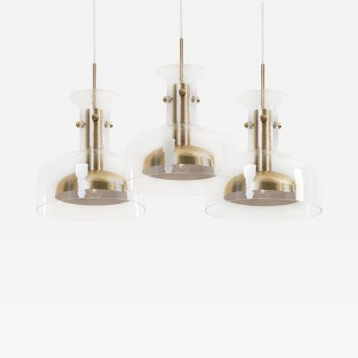 Anders Pehrson Set of three Crystal Pendant by Anders Pehrson for Atelje Lyktan