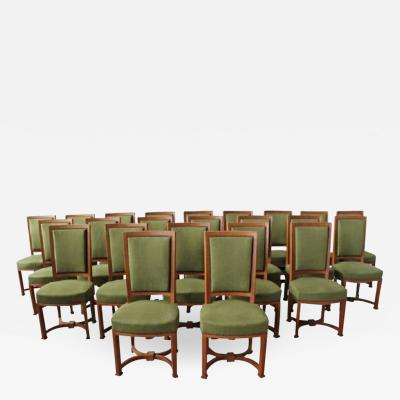 Andr Arbus 11 Fine French Art Deco Oak Side Chairs by Arbus 1 Armchair Available