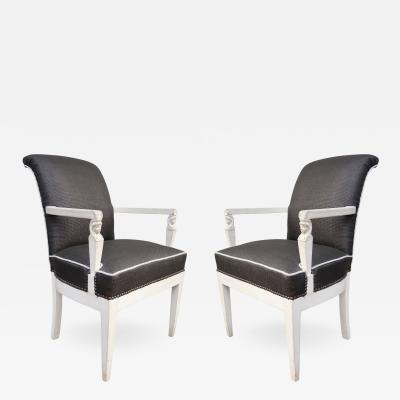 Andr Arbus A Pair of Chairs in the style of Arbus France 1940