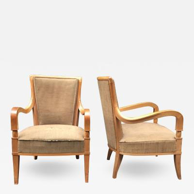 Andr Arbus Andr Arbus 1903 1969 Pair Of Fireside Chairs Circa 1940