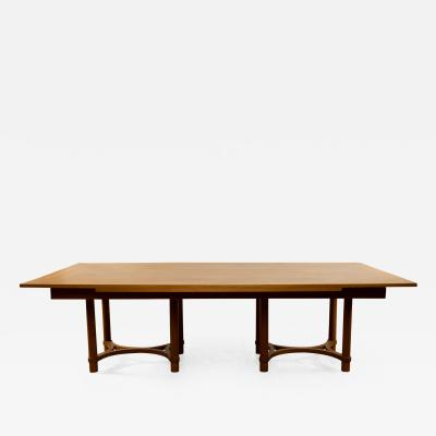 Andr Arbus Andr Arbus France Large Dining Table in Limed Oak with Two Extensions
