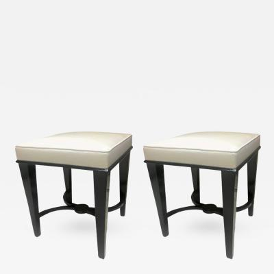 Andr Arbus Andre Arbus Superb Pair of Neoclassic Stool Newly Covered in Silk S