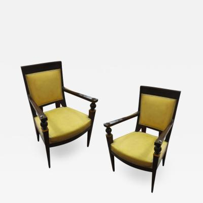 Andr Arbus Andre Arbus attributed pair of stunning pair neo classical arm chairs