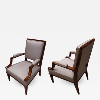 Andr Arbus Andre Arbus chic neo classic 40s pair of armchairs