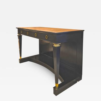 Andr Arbus Andre Arbus exceptional long blackened wood and gold bronze accent console