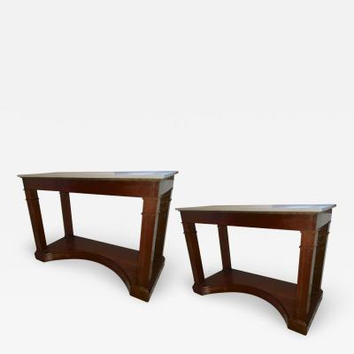 Andr Arbus Andre Arbus pair of mahogany Neo classic French 40s console