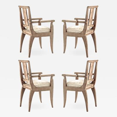 Andr Arbus Andre Arbus set of 4 dinning or playing card chairs