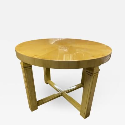 Andr Arbus Andre Arbus stunning Neo classic sycamore central table sunburst top