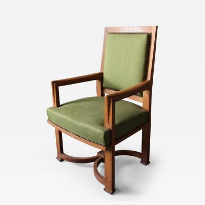 Gentil André Arbus   A Fine French Art Deco Oak Armchair By Arbus (11 Matching  Chairs Available)