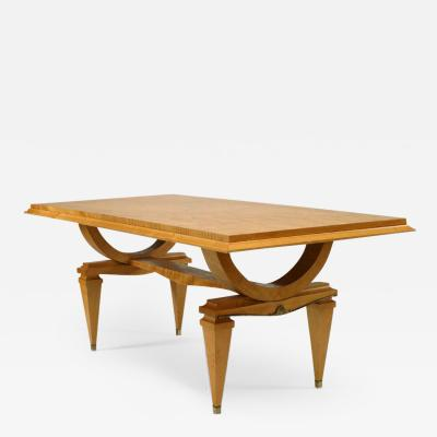 Andr Arbus French 1940s Ormolu Mounted Sycamore Extending Dining Table
