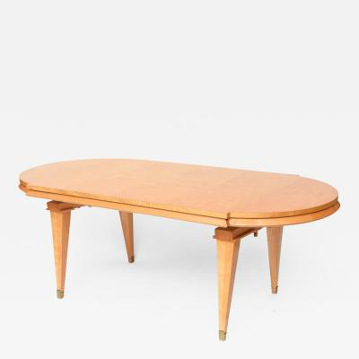 Andr Arbus French Modern Sycamore Inlaid and Veneered Dining Table Andre Arbus
